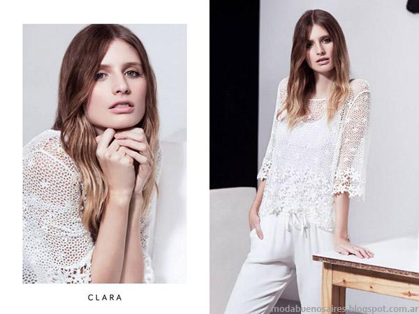 Clara primavera verano 2015 moda mujer. Blusas de moda 2015.