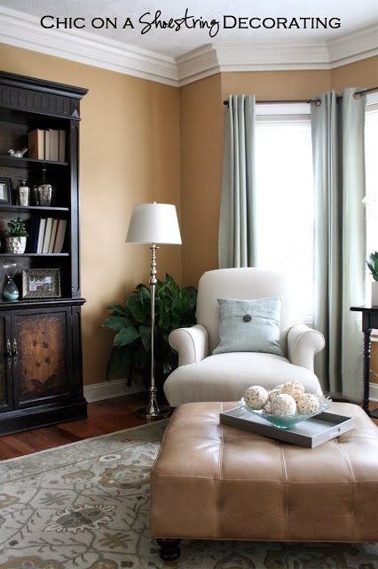 Grand Piano Living Room by Chic on a Shoestring Decorating