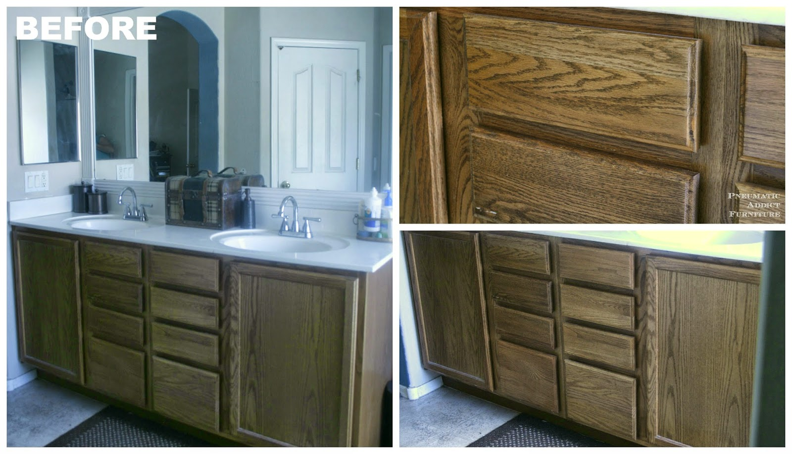 Refinish oak cabinets darker roselawnlutheran for Darken kitchen cabinets