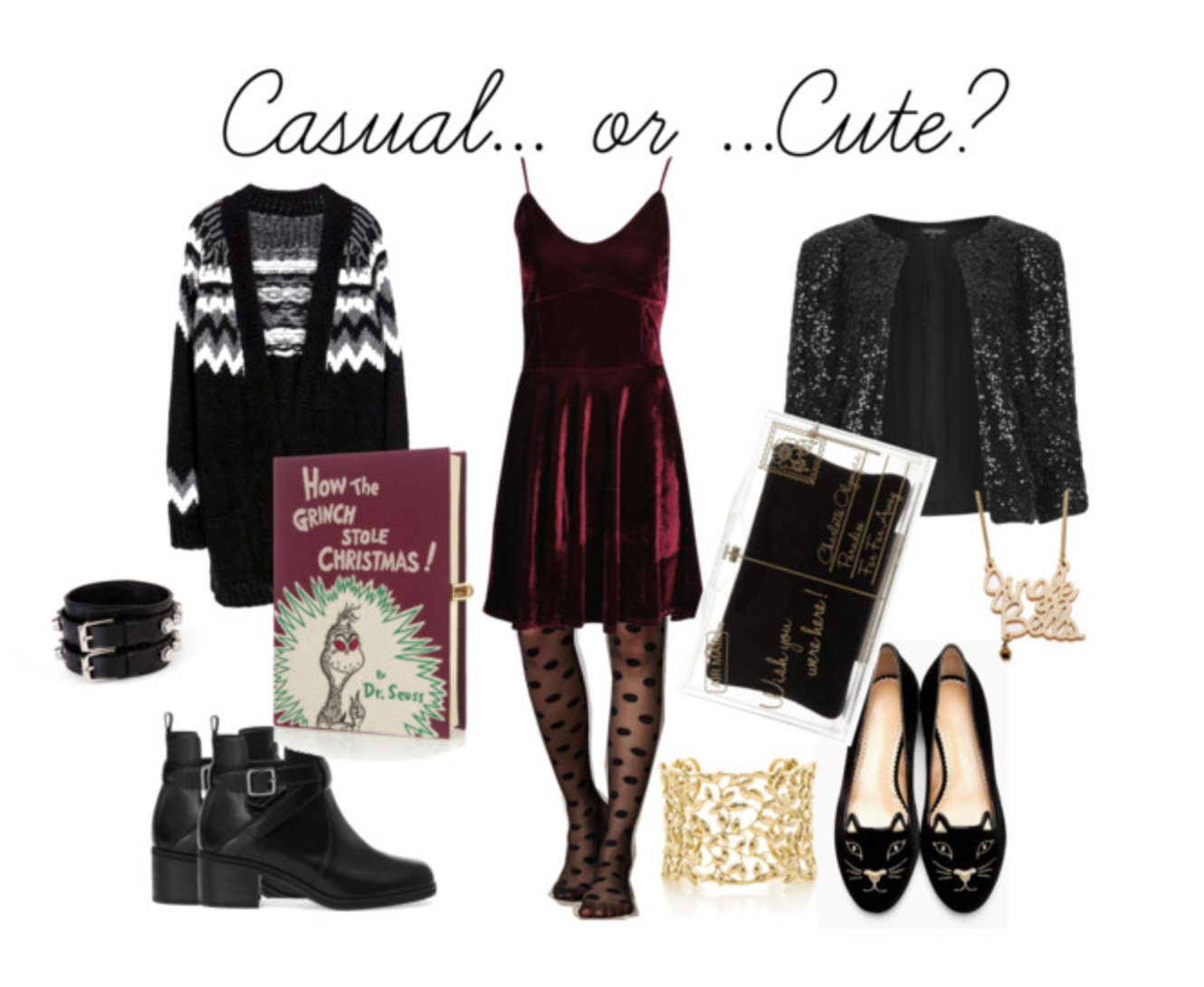 Casual Christmas Party Outfit Ideas Part - 49: I Mean, To Me Red Velvet Just Screams Holidays! If You Want To Keep This  Outfit Super Casual Just Pair It With Black Biker Boots And A Funky  Cardigan, ...