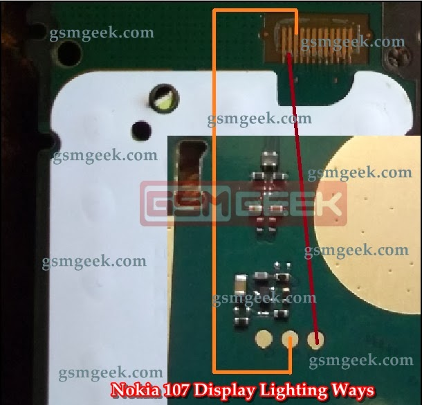 Nokia 107 LCD Display Lighting Problem
