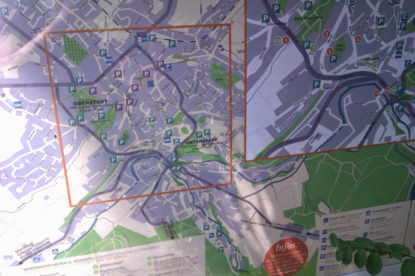 Photo of Cycling Map with park spaces as well