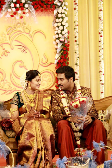 Sneha and Prasanna Wedding Reception Stills gallery
