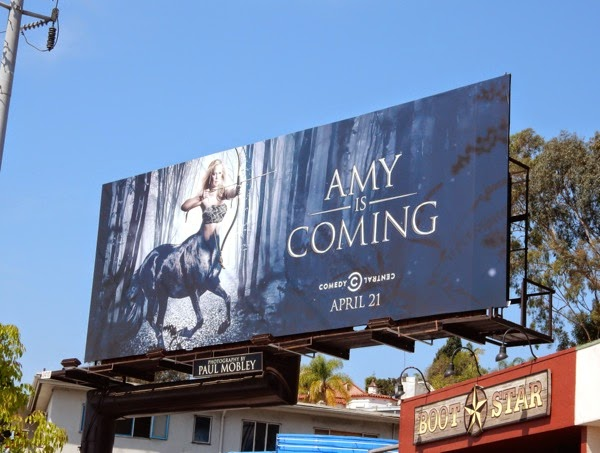 Amy is Coming centaur teaser billboard