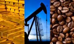 Negociaciones de Futuros de Materias Primas(Cacao, Cafe, Oro, Crudo)  e Indices Financieros