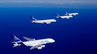 Airbus A380 Planes on Ocean HD Wallpaper