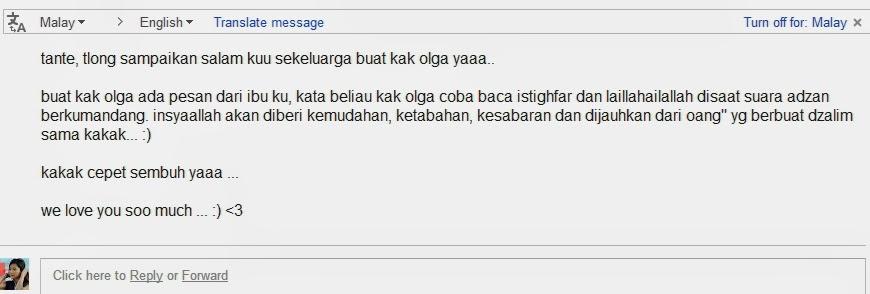 Surat Untuk Olga Syahputra di RS