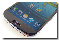 Samsung Galaxy S3 layar dan tombol utama