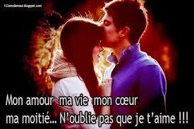 Message d'amour magnifique je t'aime ma chérie