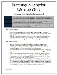 writing a personal narrative lesson plan Tips on writing a narrative essay lesson plan as with any other writing assignment, students should have a plan for how to write their narrative essay.