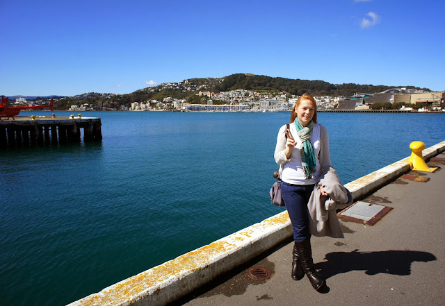 Walking around the Wellington waterfront, New Zealand