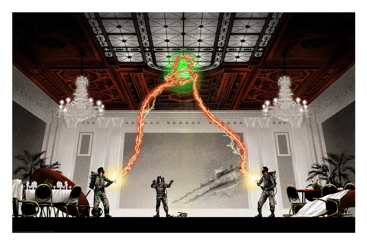 "Gallery1988 Ghostbusters 30th Anniversary ""The Flowers Are Still Standing"" Glow in the Dark Screen Print by Mark Englert"