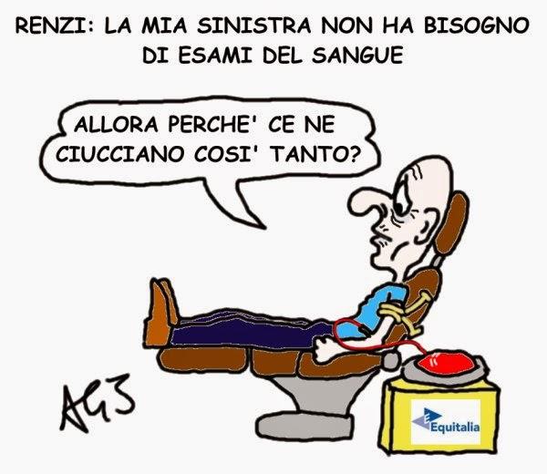 Renzi, PD, sinistra, satira