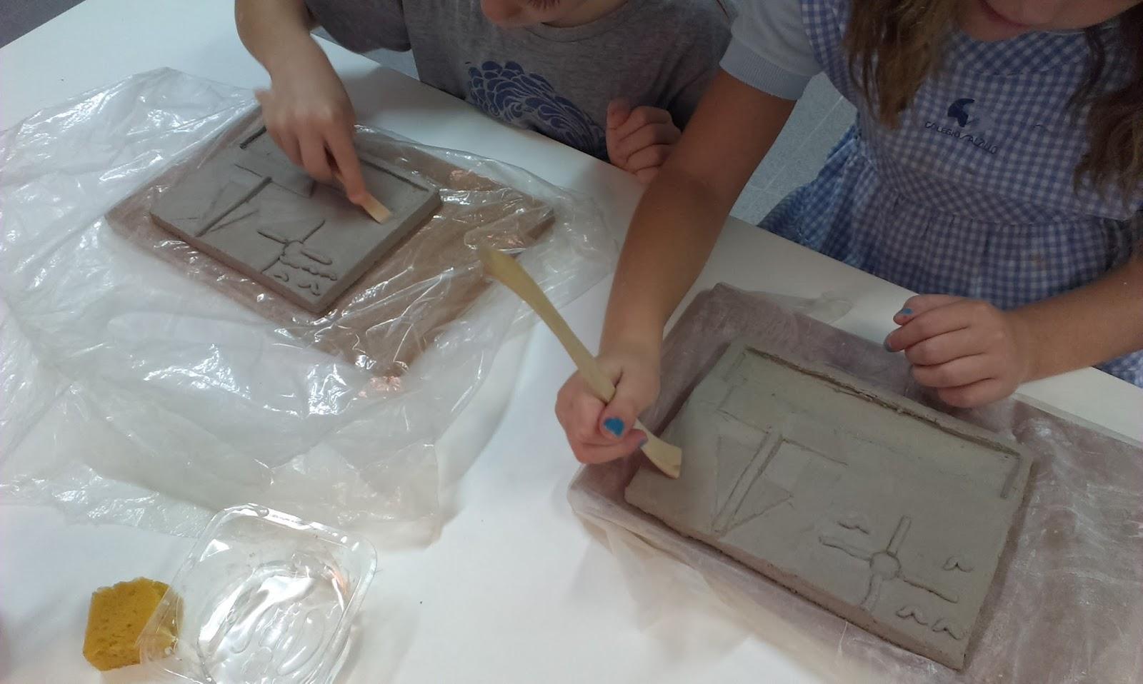 El taller de martinez y trini taller de cer mica para for Tecnicas para esmaltar ceramica