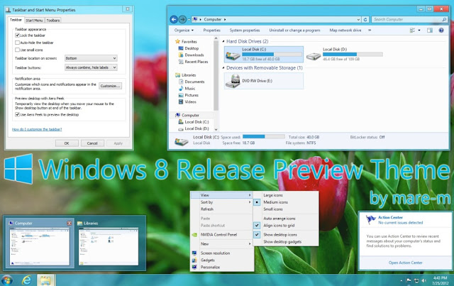 Change your Windows 7 look to Windows 8 Release Preview