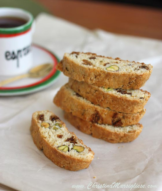 Scientifically Sweet: Fig & Pistachio Cornmeal Biscotti