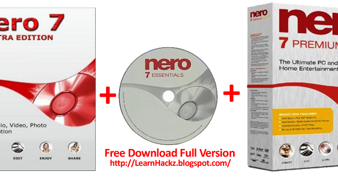 nero 7 download full free