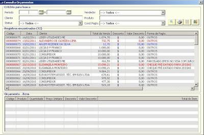 NeXT ERP 1414 Filtro Modulo Orcamentos