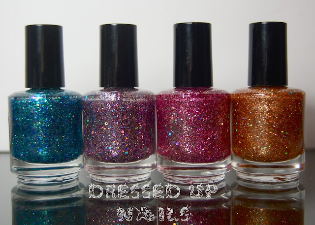 Dressed Up Nails: Shimmer Polish Sarah, Karen, Vicki, and Carmen