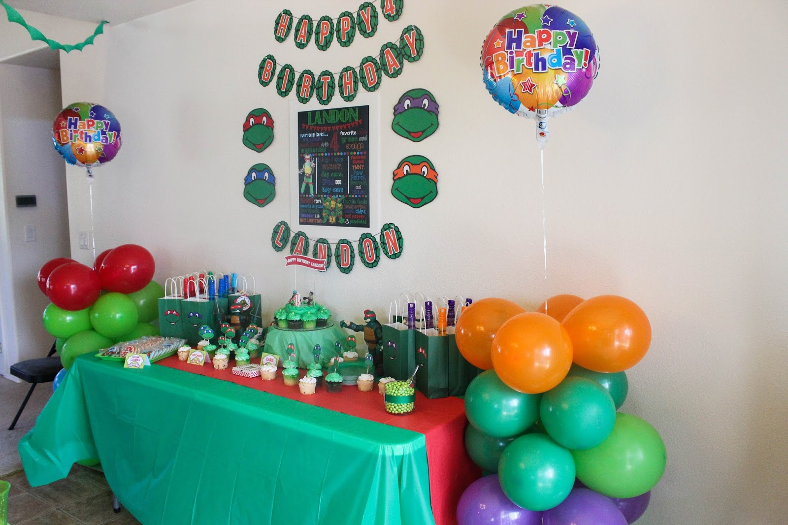 The Mommytastic Adventures TMNT Themed Birthday Party Ideas