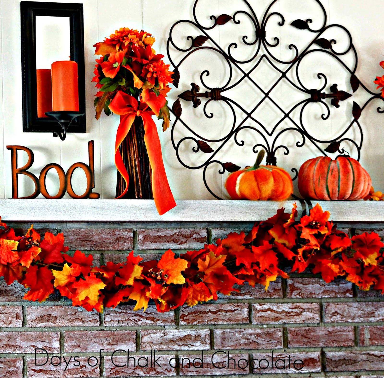 fall autumn pumpkins leaves