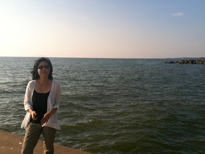Hyun Kounne on the shores of Lake Ontario, NY