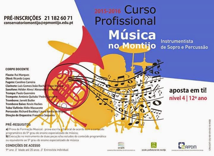 Curso profissional de Música (Instrumentista de Sopro e Percussão) – Montijo