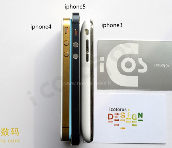 iPhone 5 thickness comparison leaked picture