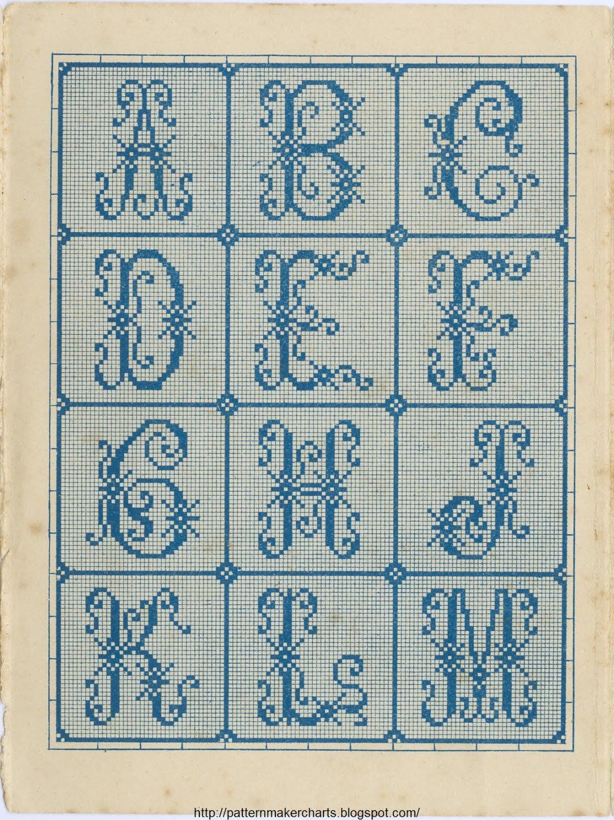 Вязаный алфавит крючком. Схемы для вязания 59