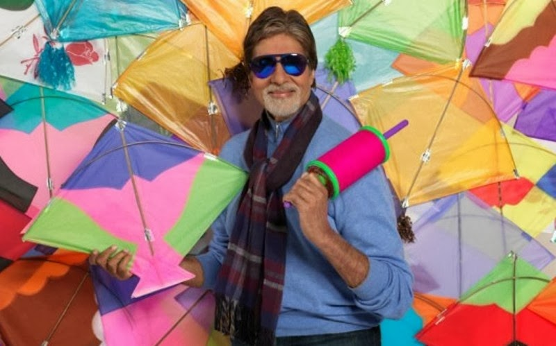 happy makar sankranti amitabh bachchan with kites lovely wallpapers