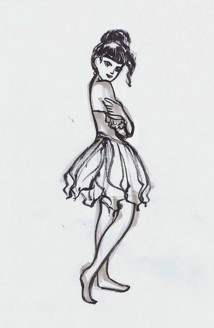 5 minute drawing ~ Ballerina