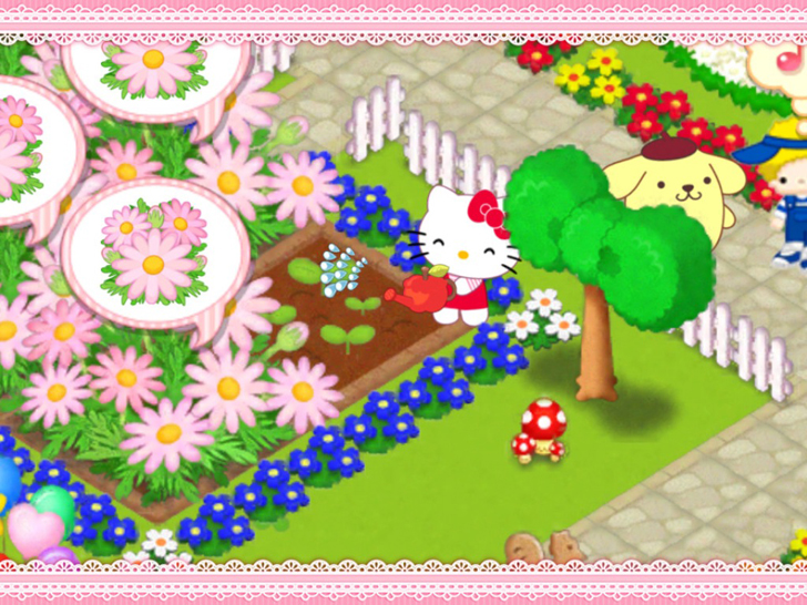 Hello Kitty Kawaii Town Free App Game By Kansai Telecasting Corporation