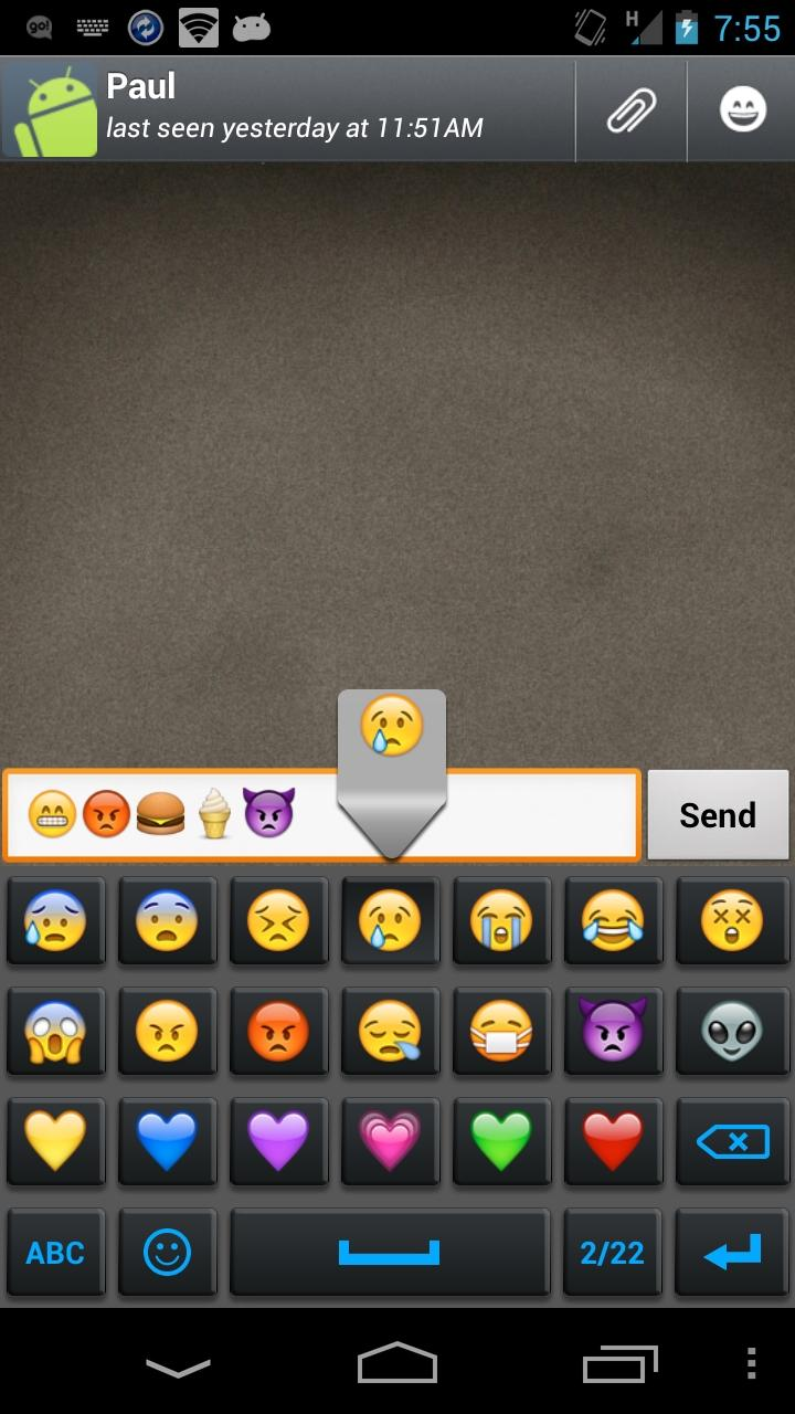 android emoticons