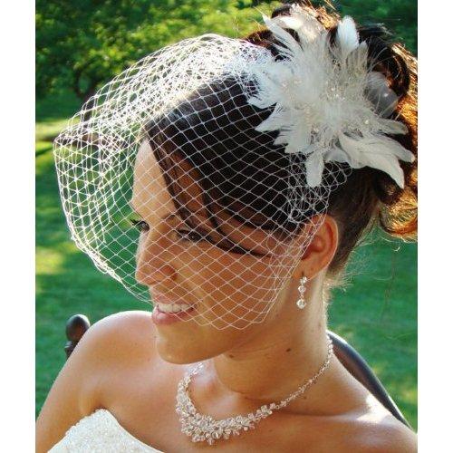 Bridal Rhinestone Headpiece Cage Veil