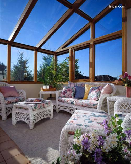 Arquitectura de casas cerramientos en cristal y madera de for Jardines de madera
