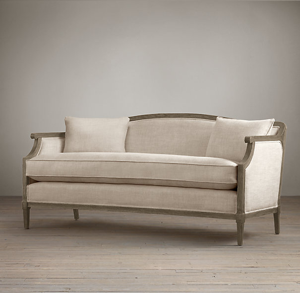 RESTORATION HARDWARE LAURENT SALON BENCH