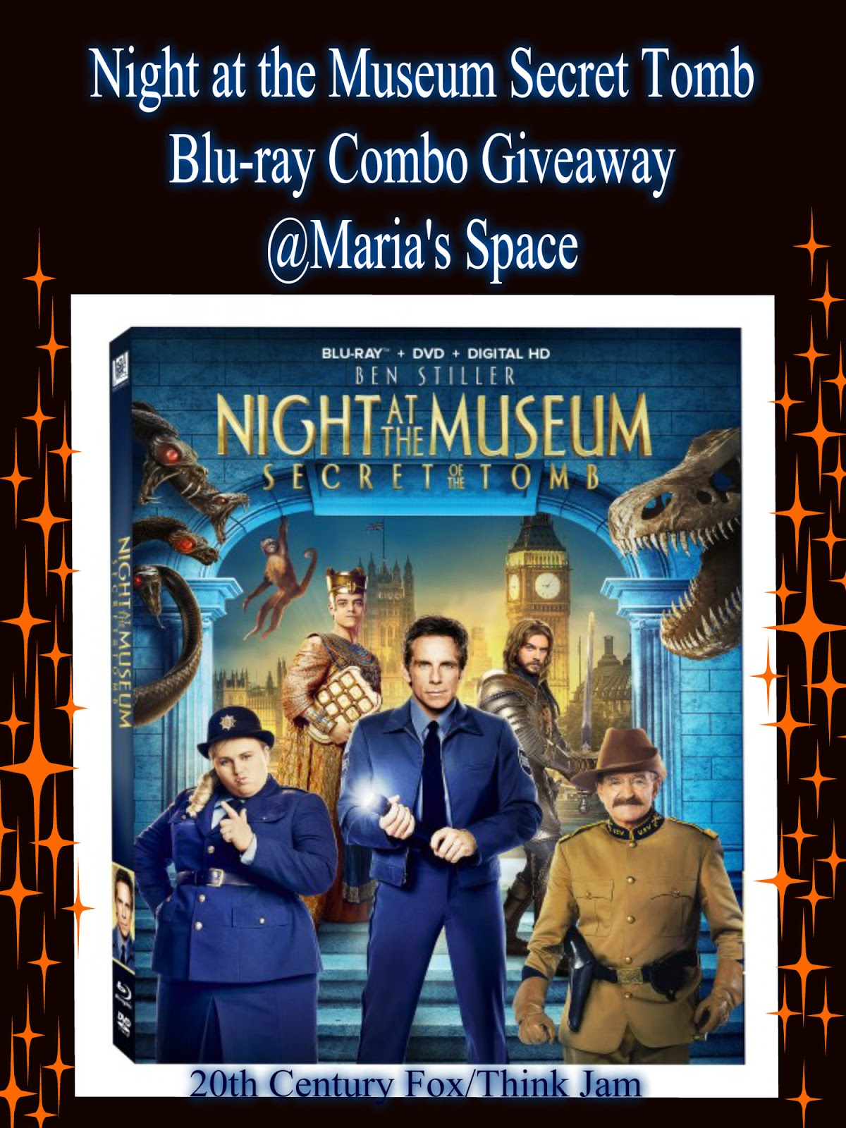 maria's space: night at the museum: the secret of the tomb blu-ray