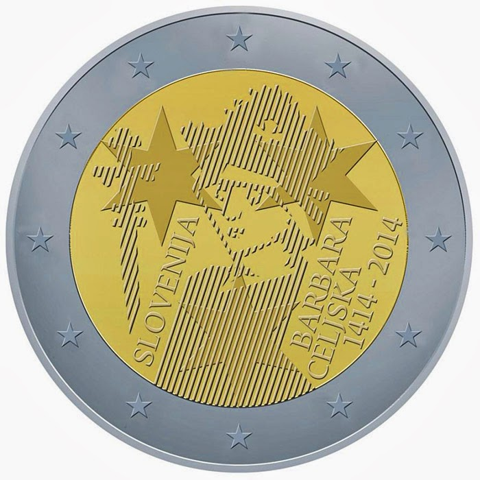 2 Euro Commemorative Coins Slovenia 2014, Coronation of Barbara of Cilli