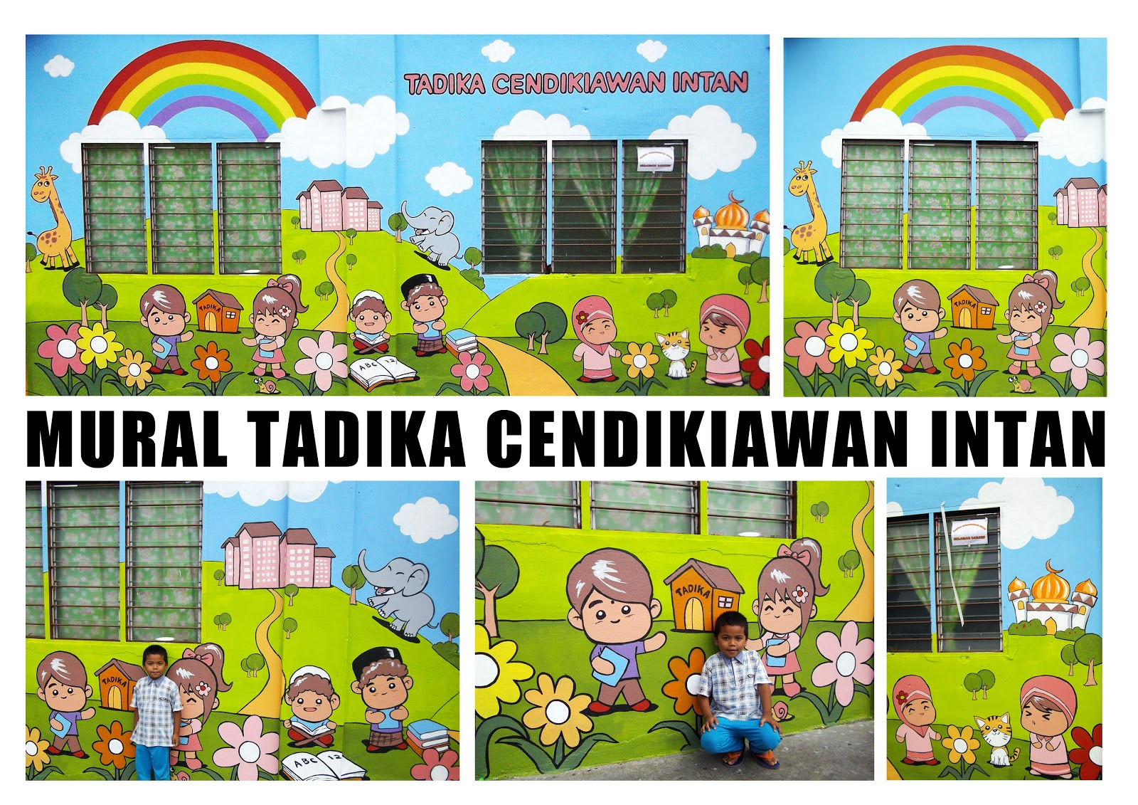 Warna arts color your wall with mural art painting for Mural tadika