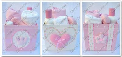 Carm n accesorios y cajas decoradas - Cajas decoradas para bebes ...