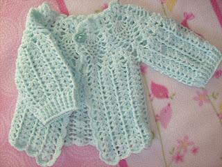 Sueter Con Cuello Redondo Tejido A Crochet Para Bebe De 3 A 6 Meses ...