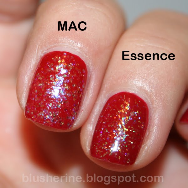 Essence Gel Nail Polish Space Queen: Blusherine: Battle Of The Nail Polishes: MAC Vs. Essence