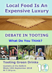 Weds Sept 19th: Tooting Green Drinks Debate