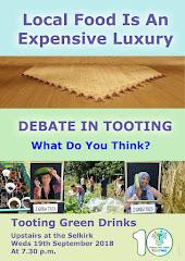 Weds Sept 19th: Tooting Green Drinks Debate