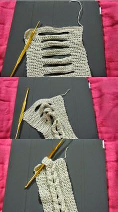 Una trenza al crochet!! paso a paso