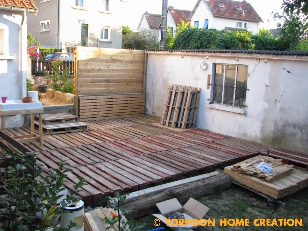 Connu Torpoon Home Creation: Terrasse en palettes et salon d'été CK54