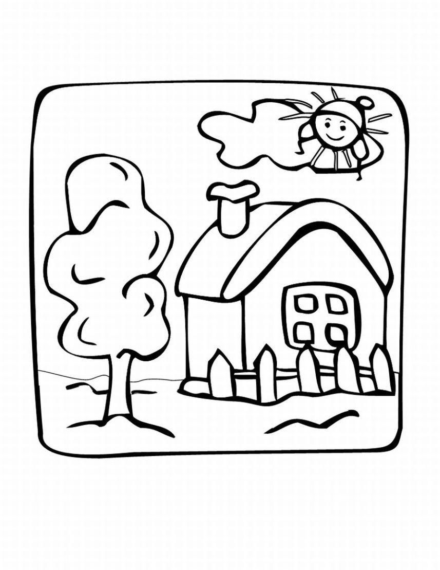casa para colorear dibujo views. Black Bedroom Furniture Sets. Home Design Ideas