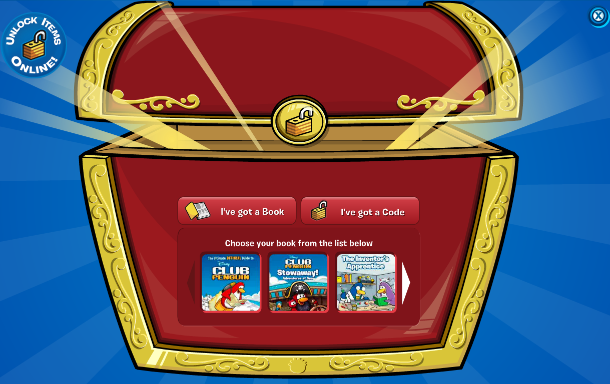 Unlock Club Penguin book codes