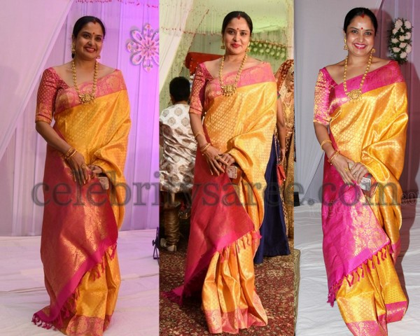 Pragathi Yellow Bridal Saree