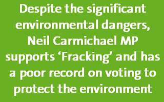 Neil Carmichael MP poor environmental voting record supporting fracking